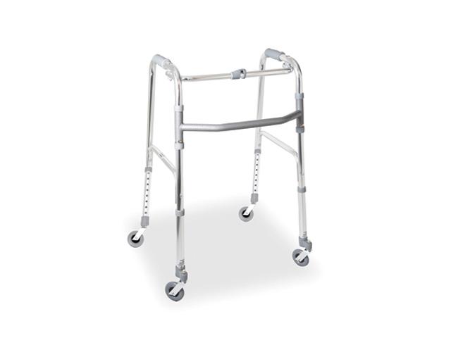 Deambulatore pieghevole ruote piroettanti da mm e ruote